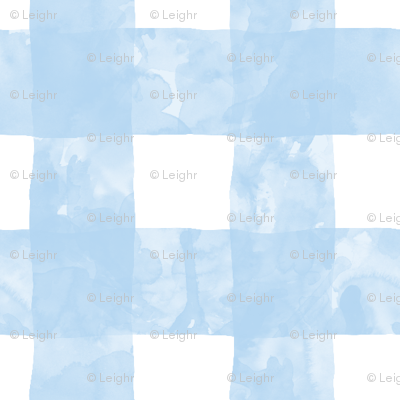 Small Painted Gingham (Blue Skies)
