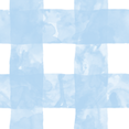 Small Painted Gingham (Blue Skies) fabric by leighr on Spoonflower - custom fabric