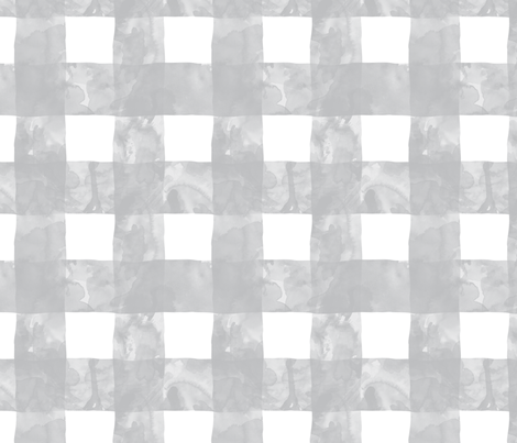 Painted Gingham (Whisper Grey) fabric by leighr on Spoonflower - custom fabric