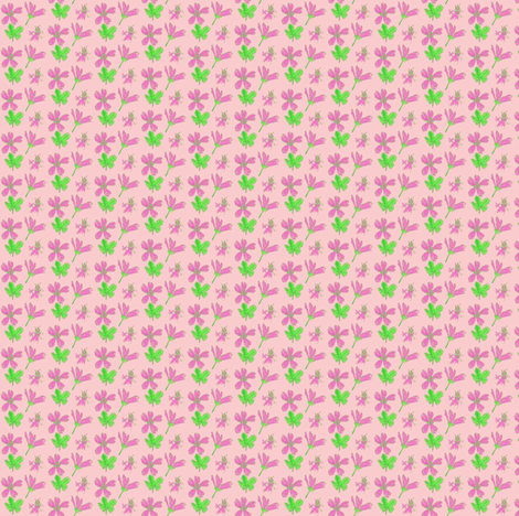 malva sylvestris pinky back fabric by mimi&me on Spoonflower - custom fabric