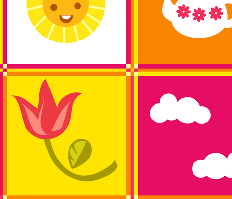 Tea & Spring fabric by irrimiri on Spoonflower - custom fabric
