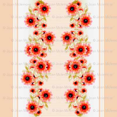 Victorian Poppy Wide Stripes
