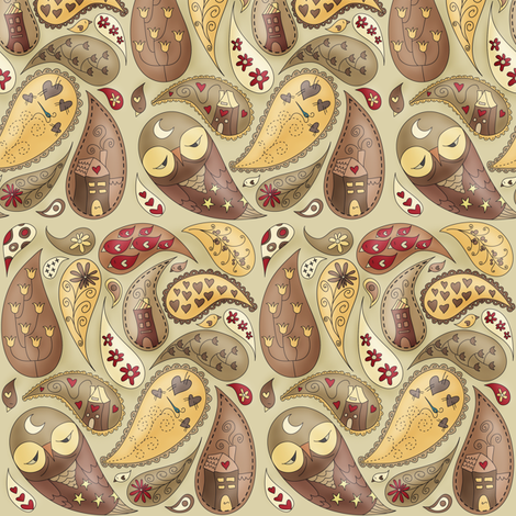 [SMALL] A Paisley point of view of her life fabric by catru on Spoonflower - custom fabric
