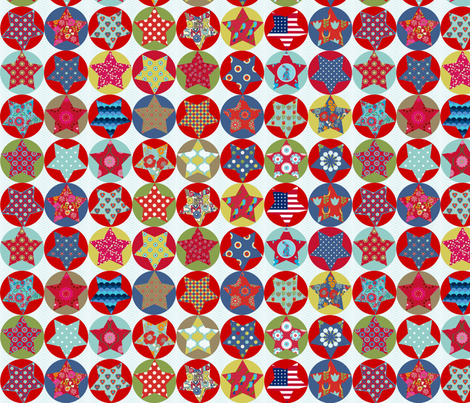 etoile_nuance_vintage fabric by nadja_petremand on Spoonflower - custom fabric