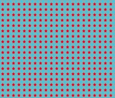 fond_d_etoile_rouge_turquoise fabric by nadja_petremand on Spoonflower - custom fabric