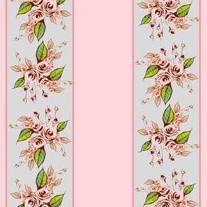 Roses Stripe light pink dainty