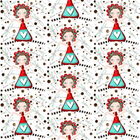 Asi es cada mirada tuya ilumina mi vida fabric by rupydetequila on Spoonflower - custom fabric