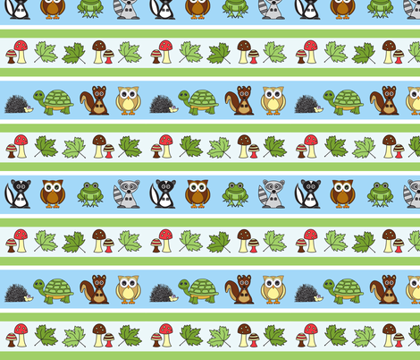 Woodland Creatures Small Print Version fabric by jsdesigns on Spoonflower - custom fabric
