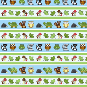 Woodland Creatures Small Print Version