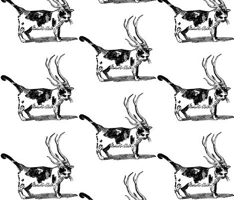 reindeer_cat fabric by trollop on Spoonflower - custom fabric