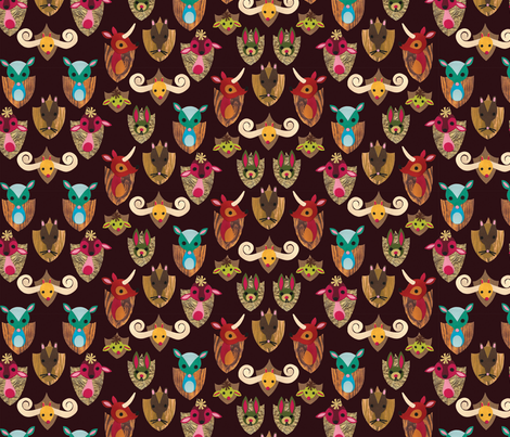 Strange Trophy Mounts fabric by jordan_elise on Spoonflower - custom fabric
