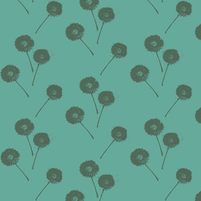 Dandelions on Teal