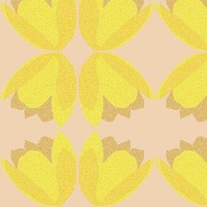 POINTALLISM TULIP yellow