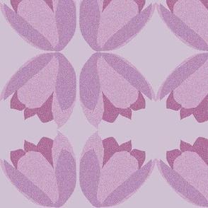 POINTALLISM TULIP purple