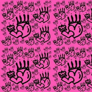 Dark Queen Heart (pink x black)