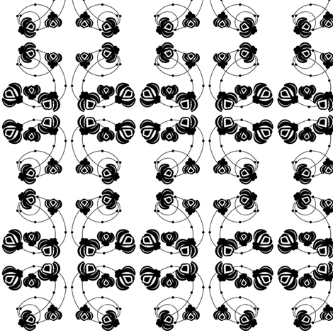 Deco Black/White Floral fabric by ninjaauntsdesigns on Spoonflower - custom fabric