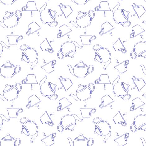Continental Blue - Tea Time fabric by jmckinniss on Spoonflower - custom fabric