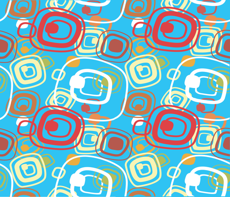 Eccentric Circles fabric by deeniespoonflower on Spoonflower - custom fabric
