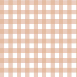 Gingham fabric salmon