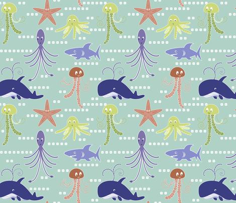 Sea life fabric by marlene_pixley on Spoonflower - custom fabric