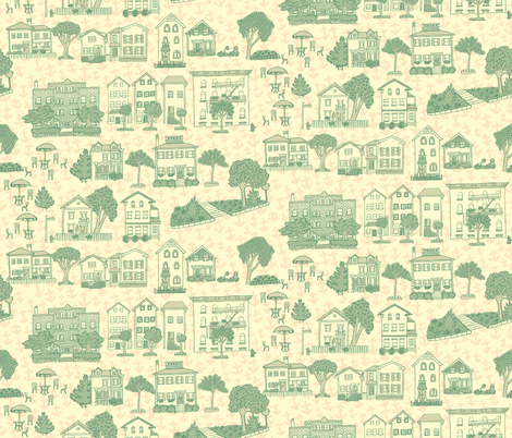 Providence Blue fabric by 1stpancake on Spoonflower - custom fabric