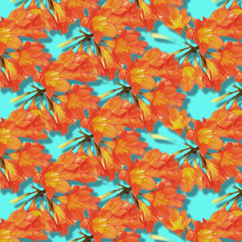© 2011 Tropical_Flowers fabric by glimmericks on Spoonflower - custom fabric