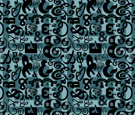 And on and on fabric by thirdhalfstudios on Spoonflower - custom fabric