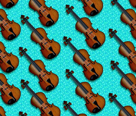 © 2011 VIOLIN-GREENBLUE fabric by glimmericks on Spoonflower - custom fabric