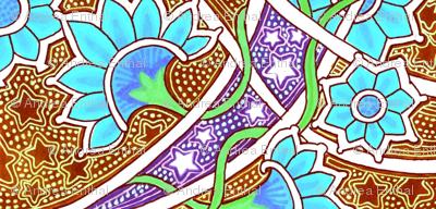 Carnation Nation Under Batik Stars