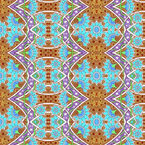 Carnation Nation Under Batik Stars fabric by edsel2084 on Spoonflower - custom fabric