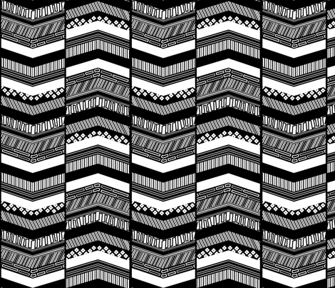 Black-n-White Chevrons fabric by wildnotions on Spoonflower - custom fabric
