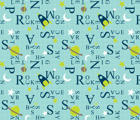 Space Grid - In The Land of Boys fabric by aimeemarie on Spoonflower - custom fabric