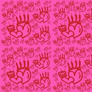 Pinky Red Queen Heart