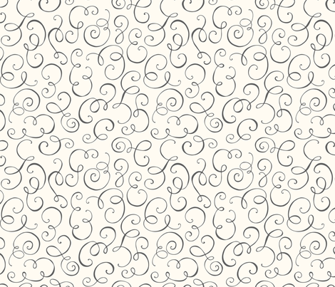Devona – Decorative Swirl fabric by wrkdesigns on Spoonflower - custom fabric