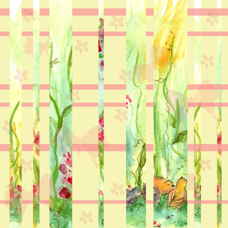Spring Chicks Plaid fabric by countrygarden on Spoonflower - custom fabric