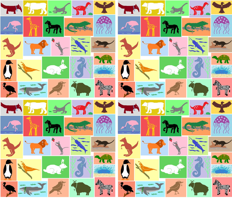 Alphabet Mascots fabric by jellyfishearth on Spoonflower - custom fabric