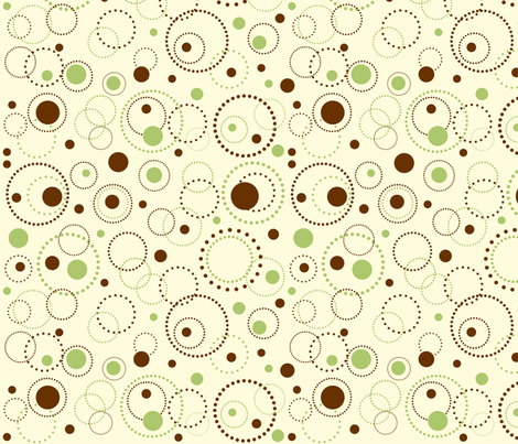 Dotted Circles Pop Cream fabric by jpdesigns on Spoonflower - custom fabric