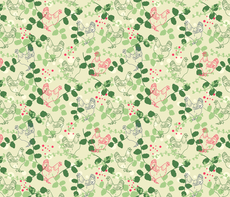 Cluck Cluck fabric by lydia_meiying on Spoonflower - custom fabric