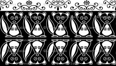 Skunk Flower Black and White