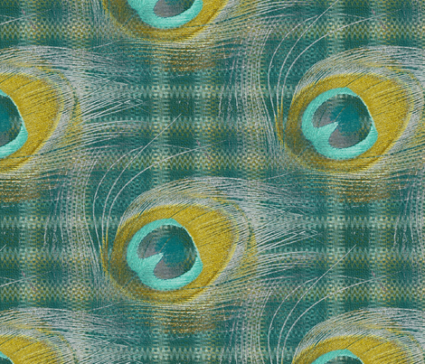 Peacocked-eyed fabric by peacoquettedesigns on Spoonflower - custom fabric