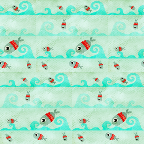 Fabric Fish fabric by rupydetequila on Spoonflower - custom fabric