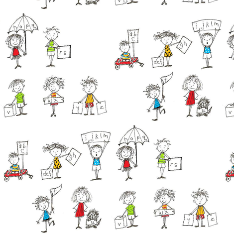 abc's fabric by ndesigns on Spoonflower - custom fabric
