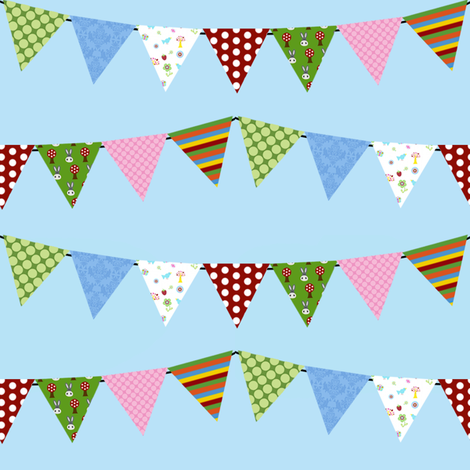 MayaBella Fabric Bunting fabric by mayabella on Spoonflower - custom fabric