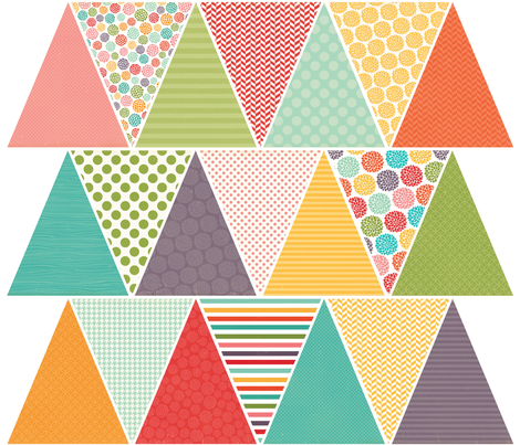 Spring/Summer Banner fabric by creativitybycrystal on Spoonflower - custom fabric