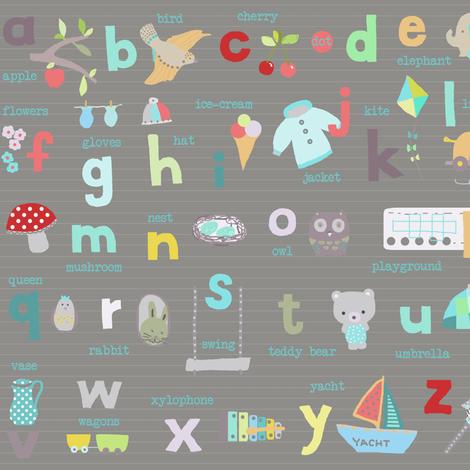 baby alphabet fabric by katarina on Spoonflower - custom fabric