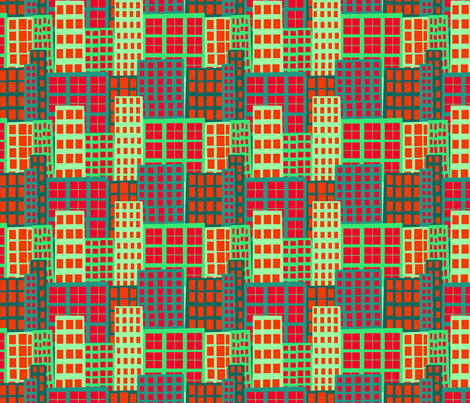 urbo-skyscraper fabric by kateaustindesigns on Spoonflower - custom fabric