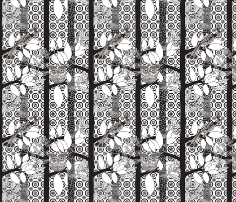 arbre_magique_in_white_dots_M fabric by nadja_petremand on Spoonflower - custom fabric