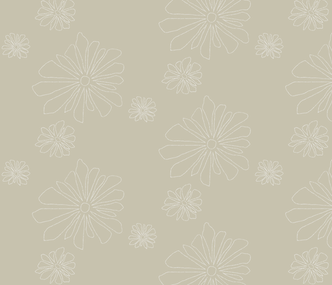 point flower Warm Grey fabric by avelis on Spoonflower - custom fabric