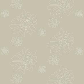point flower Warm Grey