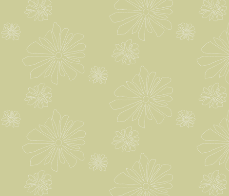 point flower Fawn fabric by avelis on Spoonflower - custom fabric
